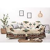 Decken Sucre Kuscheldecke Wendedecke 180x260cm,Sommerdecke Boho Baumwolle,Beige,Ideal Fürs Sofa,Teppich, Sessel,Tagesdecke,Tischdecken