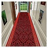 Langer Flur-Halle-Läufer schmaler Teppiche Teppichläufer für den Flur, moderne klassische Muster-Langläufer-Teppiche für Eingangshalle Küchentreppen, waschbare weiche schmale Teppiche, Zuhause und k