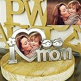 Benutzerdefinierte MOM & DAD Metall Fotorahmen-Fotorahmen Anhänger mit Stand-Home Desktop-Dekoration Einzigartige Muttertag Jubiläum Vatertag Fotorahmen Dekoration (MOM-2)