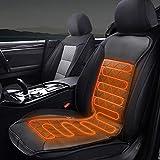 Migimi Auto Sitzheizung Auflage Beheizbare Kissen Heizkissen mit Zeit Temperatur Kontrolleur Universal Beheizte Sitzauflage 12V/24V für Auto