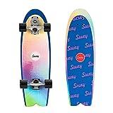 Skateboard Surfskate S7 Truck Pumping Surfing Longboard, 32*9.8 in Komplette Cruiser, Kinder Skateboards Anfänger 7-Lagiger Kanadischer Ahorn Deck ABEC-11 Kugellager, Mit All-In-One Skate T-Tool
