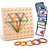 Homealexa Holz Geoboard Set Geometriebrett Montessori Holz Spielzeug für Kinder, Insp
