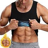 Super heiße Doppelschicht Männer und Frauen!Sauna Abnehmen Tank Top Abnehmen Toning Neopren T-Shirt Fitness Weste Hemd Sport Sweatshirt Fat Burner Effect (Color : Men, Size : XL)