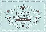 'Happy Birthday - Schön, dass es Dich gibt' Glückwunschkarte zum Geburtstag in mint (Grußkarte/Klappgrusskarte/Liebe/Geburtstagskarte) im Retro-Vintage-Packpapier-LooK' (Mit Umschlag)