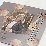 sendmoments Jugendweihekarten, Glanz Kugel, Einladung 5er Klappkarten-Set quadratisch, personalisiert mit Text & Fotos, wahlweise mit passenden Umschlägen im gleichen Design