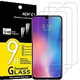 NEW'C 3 Stück, Schutzfolie Panzerglas für Xiaomi Mi 9 SE, Mi Play, Frei von Kratzern, 9H Härte, HD Displayschutzfolie, 0.33mm Ultra-klar, Ultrabeständig