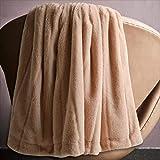 DAUAOTO Extra weiche doppelseitige Kunstfell-Decke, eleganter & dekorativer Überwurf für Sofa, Stuhl, Winterbettwäsche (152,4 x 203,2 cm, Pink)