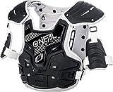 O'NEAL | Brustprotektor | Motocross Enduro | Aus Kunststoff-Spritzguss, Verstellbare Hüftgurte, Zertifiziert EN 14021 | PXR Stone Shield Brustpanzer | Erwachsene | Schwarz Grau | One Size