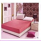 YDyun Baumwolle, Antiallergisch Matratzenschutz Einfarbige rutschfeste Schutzhülle