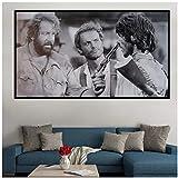 Alte Filme Terence Hill Bud Spencer Poster Leinwandmalerei für Wohnzimmer Dekor Wandkunst Poster Druck auf Leinwand-60x100cm ohne R
