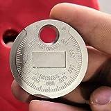 1pc Zündkerze Gap Messer Werkzeugvermessung Münzartige 0.6-2.4mm Bereich Zündkerze Gage Spur Maschinist Werkzeuge Winkel Lineal (Color : 1 pc)