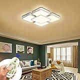 COOSNUG 64W LED Deckenleuchte Dimmbar Deckenlampe Wohnzimmer Schlafzimmer Küche Panel Leuchte (3000-6500K) [Energieklasse A++]