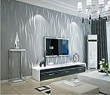 Tapete Vliestapete Streifen Linien Tapete Moderne Minimalistische Mode Design Wandtapete 3D Tapete Für Wohnzimmer, Schlafzimmer Und TV Hintergrund (gray)