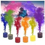 Farbige Rauch, Bengalo Serie Rauchbomben Ungiftig und Sicher, Rauchfackel für Photography, Marathon, Fallschirm, Halloween, Weihnachten, Party Dekoration (6pcs)
