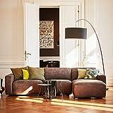 ikarus Clifden 3-Sitzer Sofa Longchair rechts Sitzauszug motorisch - braun