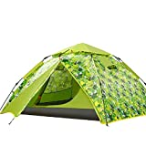 Busirsiz Outdoor Campingzelt, 3-4 Doppeldecker Doppeltür Automatisches Zelt, mehr Platz Campingzelt, grün, einfach zu installieren, geeignet für Outdoor, Wandern und