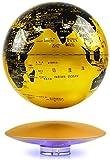 XUSHEN-HU Floating Globe 8 Zoll Spinning Ball Anti Schwerkraft Weltkarte Globe für Büros Home Decor Kinder Bildung Kreatives Geschenk (Gold) Weltkugel