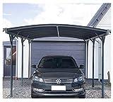 Home Deluxe - Design Carport anthrazit - Falo - Maße: 505 x 300 x 226/240 cm - komplett inkl. Montagematerial | Autoüberdachung Garage Unterstand