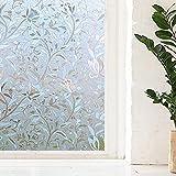 LMKJ 3D statische frisch haltende Fensterfolie, Nicht klebende statische Fensterabdeckung, undurchsichtige Sichtschutzglasaufkleber Fensterfolie A6 30x200cm