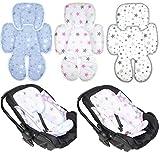 Sitzverkleinerer - Star- Baumwolle Baby Kind für Auto Kindersitz Babyschale Einsatz (Star BLAU)