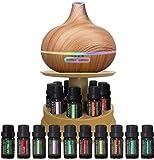 Amacigana Ultimativer Aromatherapie-Ultraschall? 400ml Ultraschall Leise Luftbefeuchter,Wasserlose Automatische Abschaltung, Duftlampe für Raum,Büro,Yoga,Spa,usw