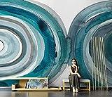ZZXIAO Dunkelblaue Scheibe 3D Foto Hintergrund Wandbild Motiv wandpapier fototapete 3d effekt tapete Wohnzimmer Schlafzimmer Hintergrundbild-400cm×280cm