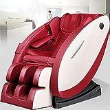 QQ HAO 3D-Surround-HiFi-Schwerkraftmassagestuhl, Shiatsu-Ganzkörpermassagestuhl, Heizung Und Fußrollenmassagegerät,Rot