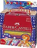 Faber-Castell A.W. 201352 - Malset Jumbo Grip Zirkus im Metall-Koffer