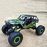 Sdesign Fernbedienung Auto - RC-Raupen-Auto-Spielzeug-Geschenk für 6-12 Jahre alte Kinder, 4wd Off-Road-Truck für Jungen Mädchen (Color : Green)