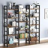 Tribesigns Bücherregal, 5 Etagen, freistehend, Industrial Look, 14 Regalbretter, für Wohnzimmer, Homeoffice