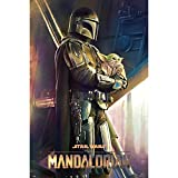 Grupo Erik Poster The Mandalorian Child Gorgu - Wandkunst Baby Yoda Star Wars, GPE5484
