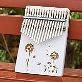 YJTT Körper-Musical-Instruments Tragbare 17 Keys Kalimba Weiß Daumenklavier Sound Board Tuning Ton Anfänger Eintrag Instrument Klavier (Farbe : 03)