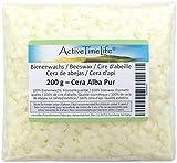 ActiveTimeLife® Bienenwachs Pastillen weiß 200 g | Zertifiziert | für Natur Kosmetik Kerzen Cremes Salben Seifen Wachstü