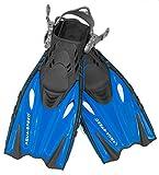 Aqua Speed Flossen Kinder verstellbar I Schwimmbadeflossen Kind I Taucherflossen flexibel I Kurze Trainingsflossen I Schwimmflossen langlebig I Blau, Gr. 27/31 I Bounty