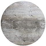 Werzalit Tischplatte Dekor Findus grau 70 cm rund wetterfest Vintage-Optik Ersatztischplatte Gastro