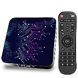 Android-TV-Box, TP02 Android 10.0-TV-Box, 4 GB RAM 64 GB ROM, RK3318 Quad-Core-64-Bit-ARM Cortex-A53 Unterstützt 2,4 G 5 G Dual-WLAN / 4 K/BT 5,0 / USB 2.0 / 3D / H.265 Smart-TV-Box,4gb+32gb