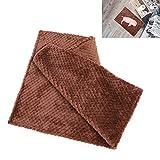 Jacksing Schlafmatte, Hundedecke weich und warm für Haustierkissen für den Mehrfachgebrauch(Coffee, M-80 * 60cm)