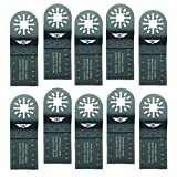 10 x 35mm TopsTools UN35F_10 Holz Schneideklingen Kompatibel mit Bosch Fein (nicht StarLock) Makita Milwaukee Einhell Parkside Ryobi Worx Workzone Multifunktionswerkzeug-Zubehör