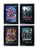 HWC Trading A3 FR Avengers Unendlichkeit War Endgame-Film-Plakat Downey Jr, Evans, Hemsworth Signed A3 Printed Autogramm Film Geschenke drucken Fotobildanzeige (alle 4 Poster)