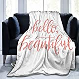 Decke Hello Flanell-Fleece-Überwurf, Decken für Baby, Kinder, Herren, Damen, weich, warm, Queen-Size-Größe und Überwürfe für Couch, Bett, Reisesofa, 127 x 101,6 cm