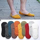 EPRHAN 10 Paar Unsichtbar Atmungsaktive Innensocken Unsichtbare Sneakersocken rutschfest Silikon Socken für Herren