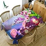 XXDD 3D Tischdecke White Magnolia Flower Pattern Staubdicht Esstisch Tischdecke Wedding Holiday Tischdecke A15 140x140cm