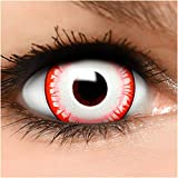 Farbige Maxi Sclera Kontaktlinsen Undead Zombie - inkl. Behälter - Top Linsenfinder Markenqualität, 1Paar (2 Stück)