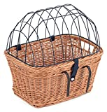Tigana - Fahrradkorb aus Weide mit Gitter und Kissen für Lenker Natur (Lenker 45 x 33 cm - (N-S))