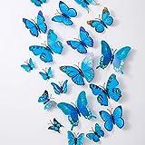 WXQIANG 36PCS Schmetterling Wandtattoo - 3D Schmetterlinge Dekor for Wand-Aufkleber Removable Mural Aufkleber Hauptdekoration Kinderzimmer Schlafzimmer-Dekor (Color : 23)