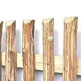 Zaunlatten aus Haselnuss • Zaunbretter 5cm x 50cm zum Selbstbauen von Holzzaun, Lattenzaun, Staketenzaun bzw. Kastanienzaun