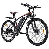 Winice Elektrofahrrad E-Bike Herren Damen,27.5 Zoll Ebike Mountainbike mit Hinterradnabenmotor, 36V/48V 10.4AH Abnehmbarer Lithium Akku/Shimano 21-Gang Schalthebel, Reichweite 50km