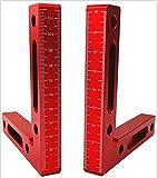 CDIYTOOL 90-Grad-Positionierwinkel, Aluminiumlegierung, 12 x 12 cm, rechtwinklige Klemmen, Holzbearbeitungswerkzeug zum Klemmen an Boxen, Bilderrahmen und Regalschränken.