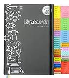 koalaplan Lehrerkalender A4 - A5 2021/2022 Lehrerplaner Terminkalender Terminplaner Schulplaner Schulkalender Unterrichtsplaner Schuljahresplaner Planer und Kalender für Lehrer (DIN A4, Schwarz)