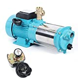 Kreiselpumpe Gartenpumpe 6000 L/h 9.8 bar Wasserpumpe Hauswasserwerk Pumpensteuerung 1300 Watt